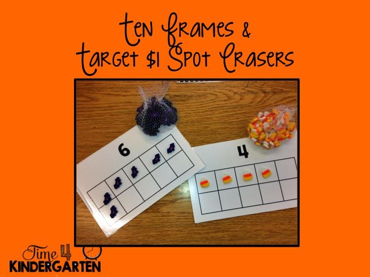 ten frames, halloween math centers, Target $1 Spot
