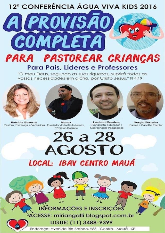 12ª Conferência para Pais, Professores e Líderes de Crianças - 2016