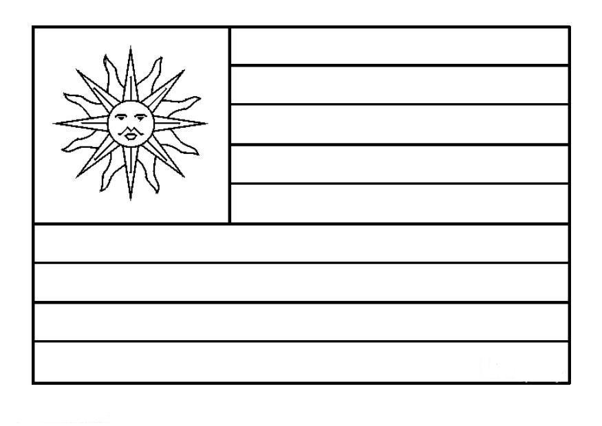 LAMINAS PARA COLOREAR - COLORING PAGES: Mapa y Bandera de Uruguay ...