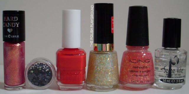 Hard Candy, Born Pretty Store Round Glitter, Duri, Revlon, Icing, Seche Vite