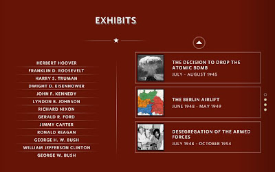 screen shot of Exhibits directory