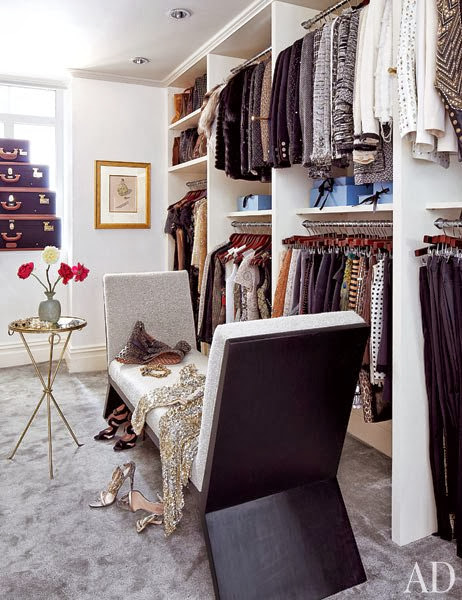 Nina Garcia closet designs full of stylish and famous brands