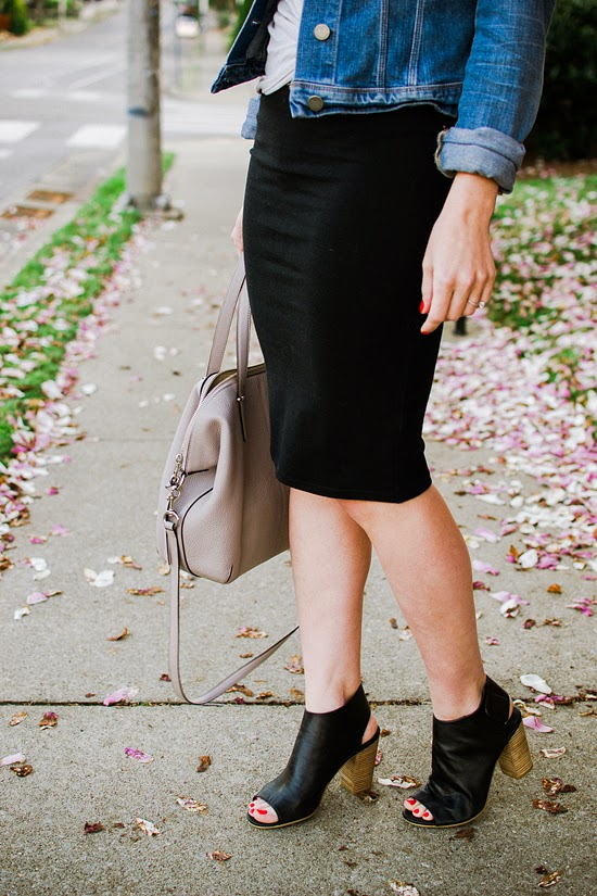 Here & Now - Old Navy jersey pencil skirt