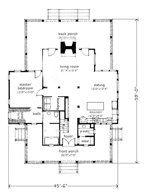 Rufus design company 2013 for Four gables house plan with garage