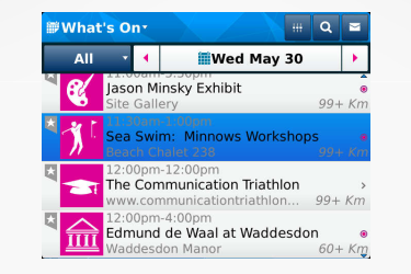 London 2012 olympics app for Blackberry