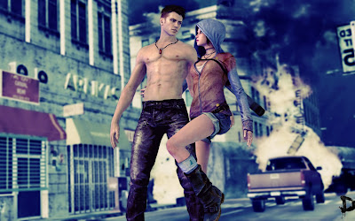 Dante and Kat DMC Wallpaper