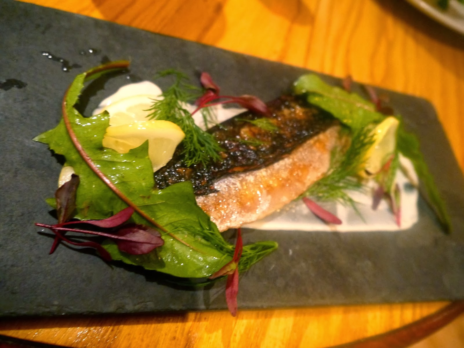 Flame grilled mackerel at The Discovery, Cardiff