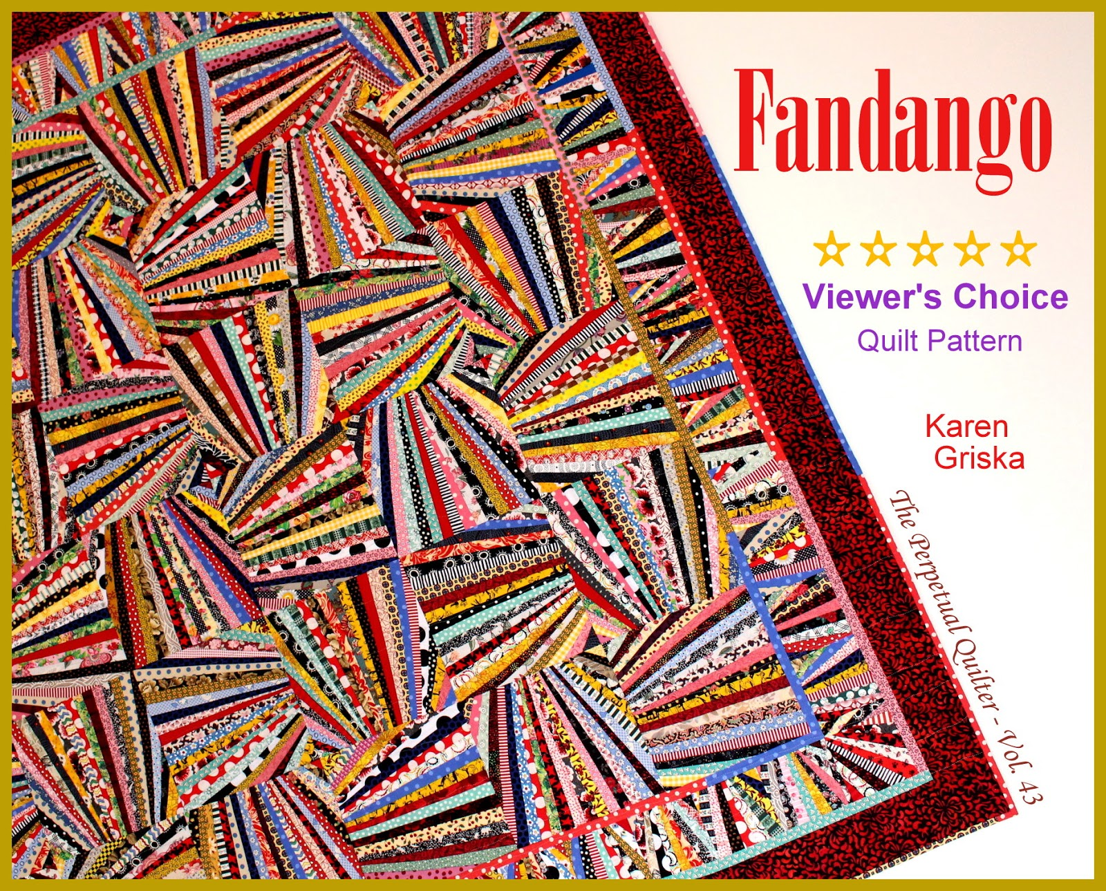 Karen Griska Quilts: New: Fandango Quilt Pattern!