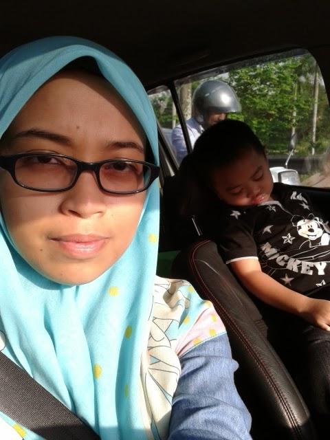 Aniq pengsan seharian ikut ibu keluar