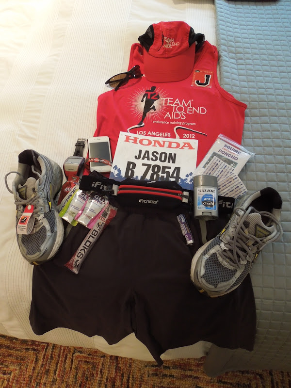 Marathon running kit