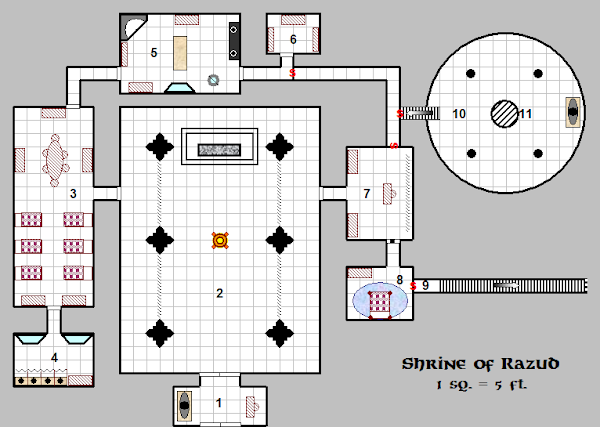 Razud D&D Dungeon Map