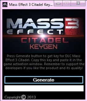 Mass Effect 3 Citadel Keygen