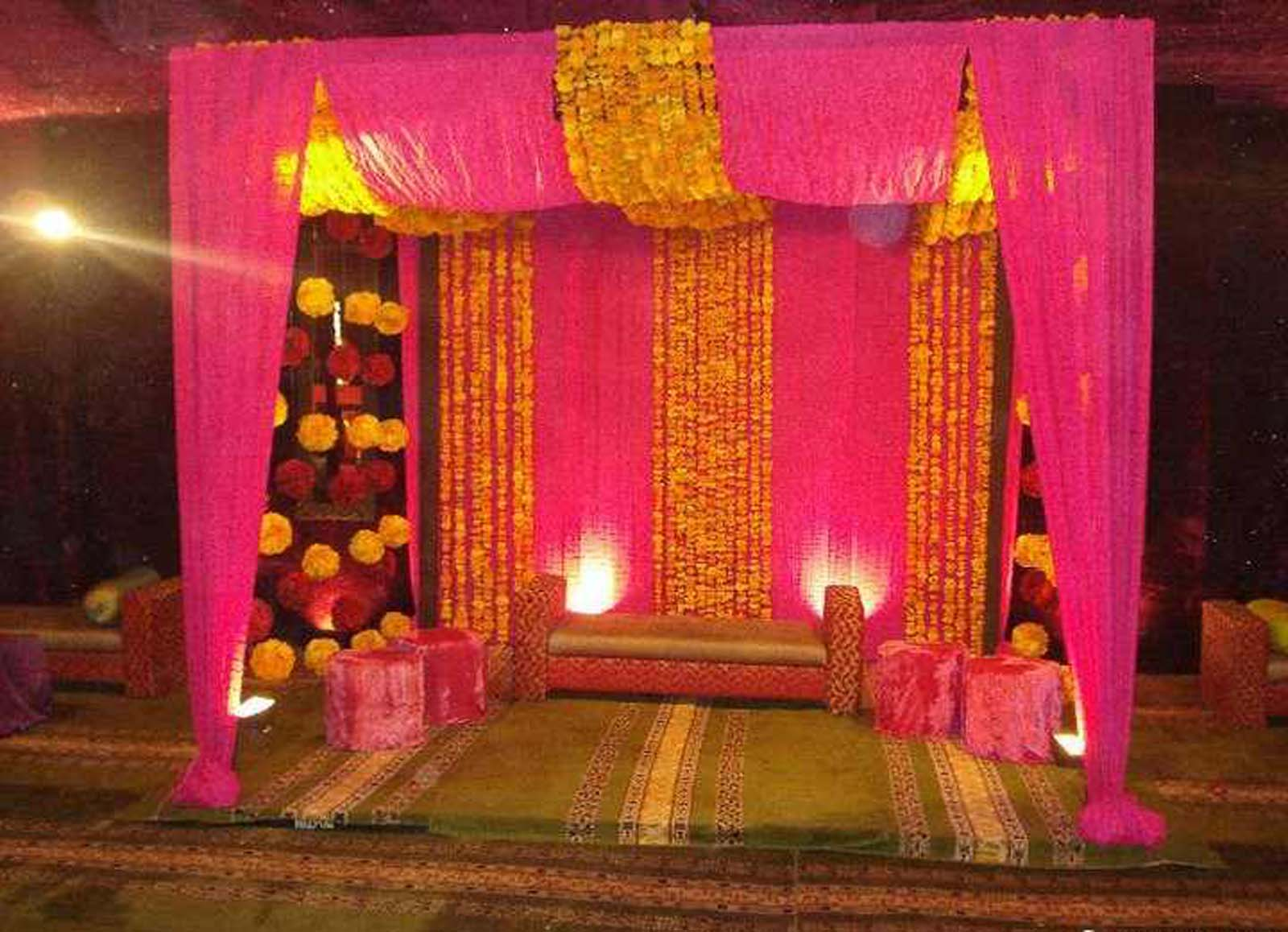 Bengali wedding guide gaye holud or turmeric on the body for Home decorations for wedding