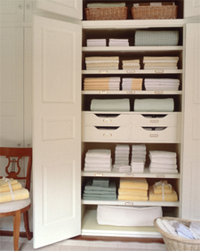 O is for Organize.: Linen Closet Storage Ideas