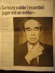 仏民放テレビTF1のサルコジ発言に、元法務大臣バデンタ氏が批判
