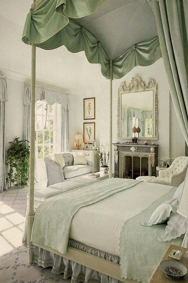 elegant green bedroom