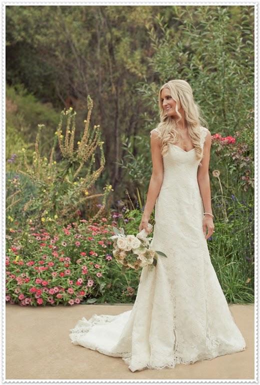 Kır Düğünleri için 2014 Gelinlik Modelleri