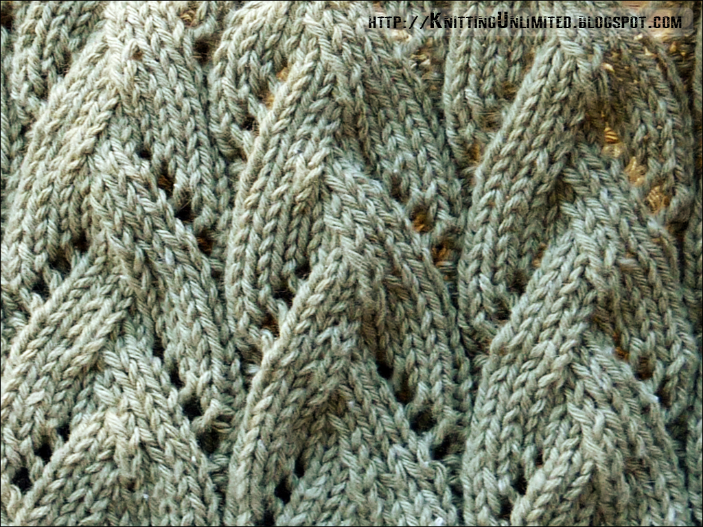 Knitted Lace Pattern : Lace Knitting Pattern 22: Braided Stitch Knitting Unlimited