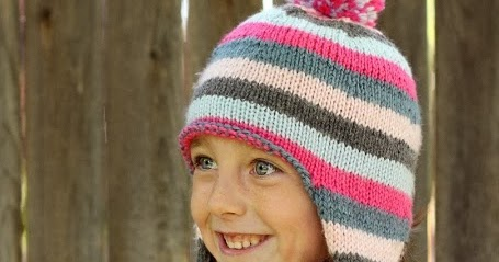 Knitting Pattern For Child s Hat With Ear Flaps : Everyday Art: Childrens Knit Ear Flap Hat Pattern