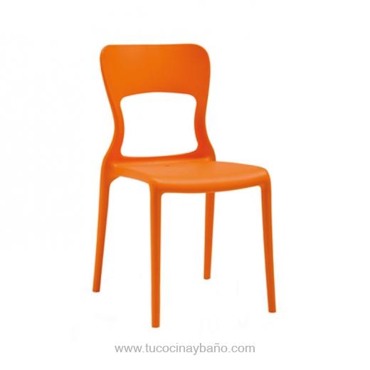 precio silla cocina color polipropileno naranja noelia