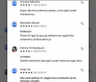 Aplikasi screenshot android