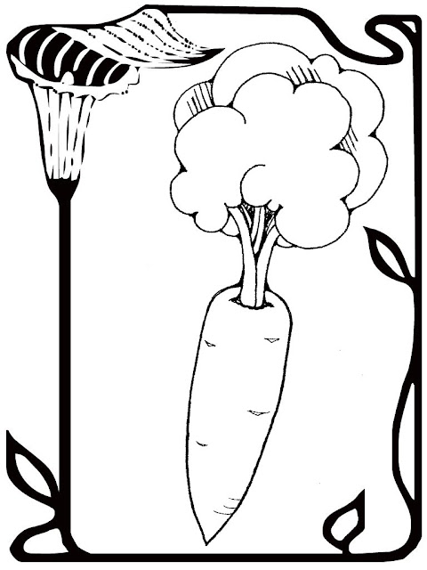 free carrot alphabet coloring pages