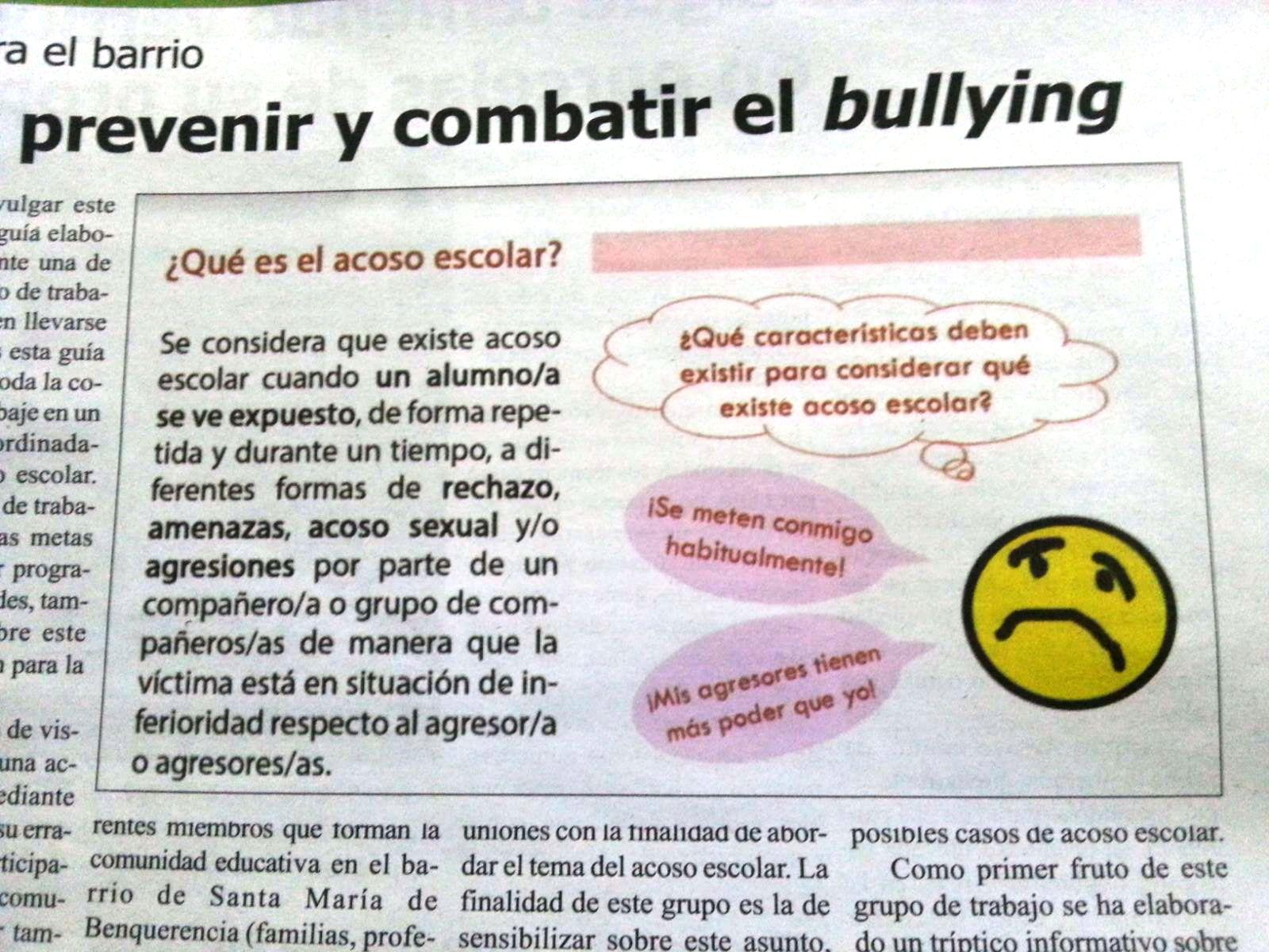 Prevenir y combatir el Bullying/Acoso