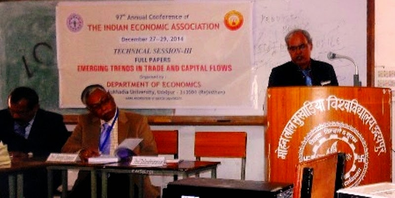 Presenting Paper at M.L.S.University,Udaipur,2014 December.