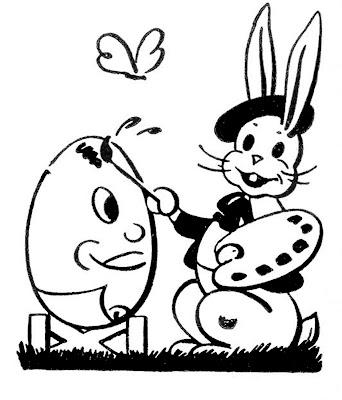 Ретро Easter Bunny Egg Изображения художников