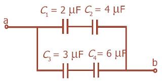 Empat buah kapasitor dirangkai paralel