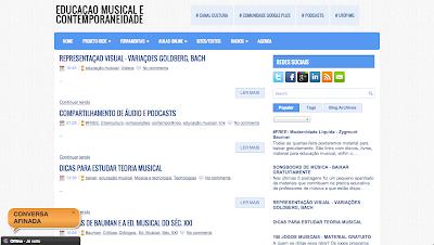 Educação Musical. Temas ligados a educação musical e contemporaneidades. Material didático a professores de música.