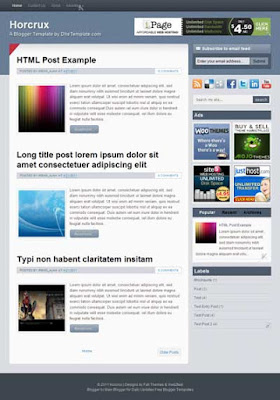 horcrux blogger template