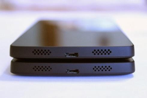 La seconda mandata di Nexus 5 è stata migliorata esteticamente sopratutto nei forellini degli altoparlanti stereo