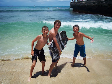The boys at Waikiki