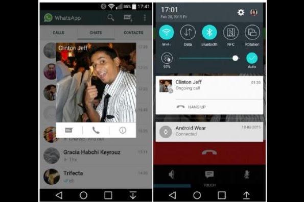 WhatsApp a comenzado a habilitar las llamadas gratuitas en teléfonos Android