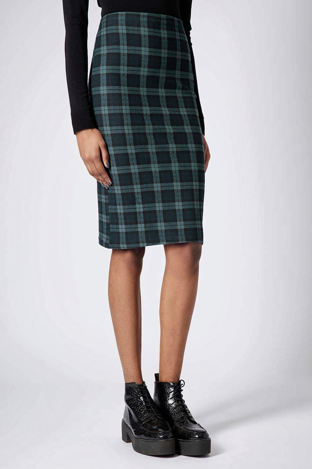 green check skirt