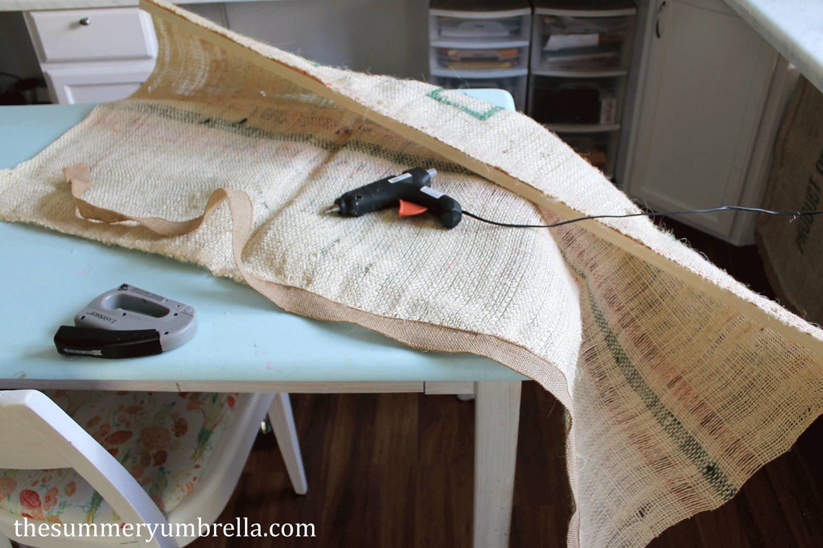 DIY desk curtain