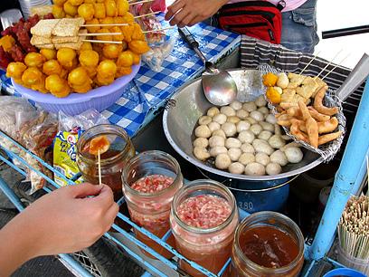 Tokneneng, Kikiam, Fishballs With Dip Sauce