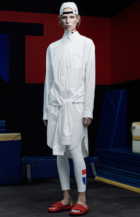 Vestido con mangas anudadas a la cintura T by Alexander Wang SS 2015