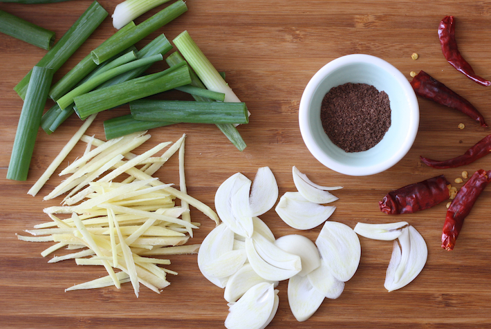 Ingredients for kung pao chicken recipe