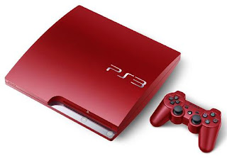 Red PlayStation 3 320GB Slim Console