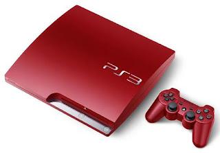 Red PlayStation 3 320GB Slim Console
