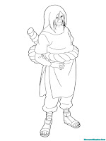 Mewarnai Gambar Orochimaru Musuh Besar Naruto