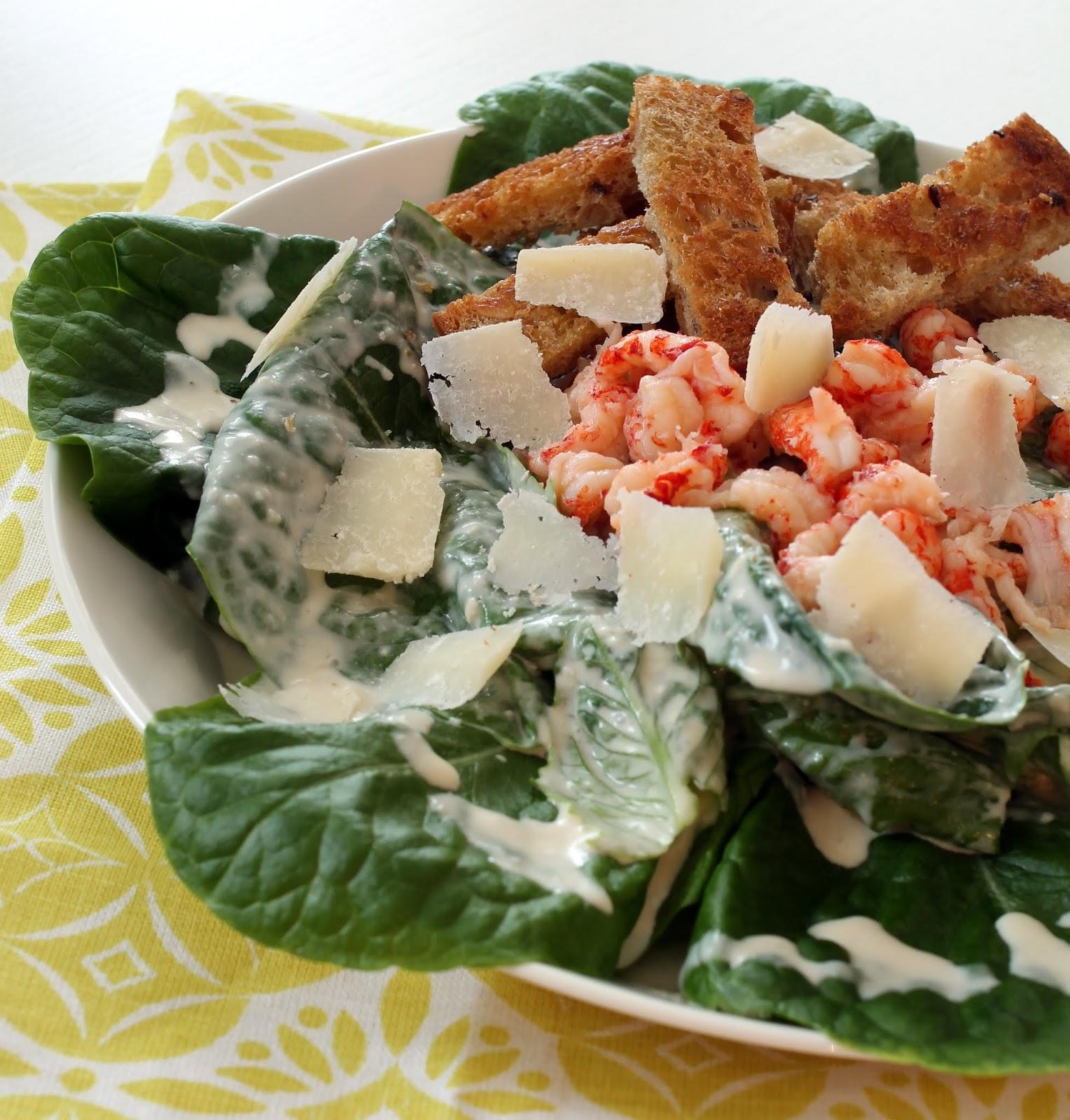 caesar-salaatti, katkarapucaesar, katkarapusalaatti