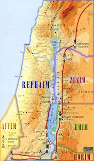 Nephilim, Rephaim, Emin, Zuzim, Israel, ancient