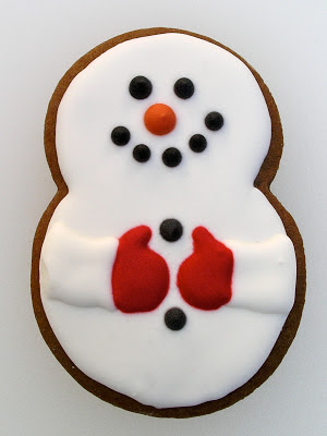 Snowman Cookie from Nina's Show & Tell