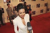 hot, sexy, cleavage show, red lips, Esha, Gupta, and, Priyanka, Chopra, at, Zee, Cine, Awards,ceremony 2013, interview,