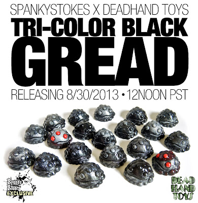 Spanky Stokes Exclusive Tri-Color Black Gread Resin Figure by Dead Hand Toys