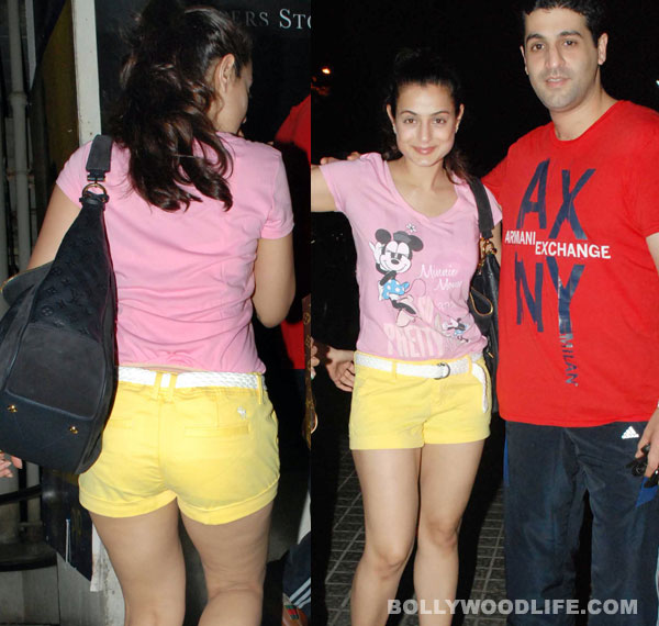 Amisha Patel in yellow shorts pink top - Amisha Patel in Yellow Shorts, Pink TOP - Latest Pics