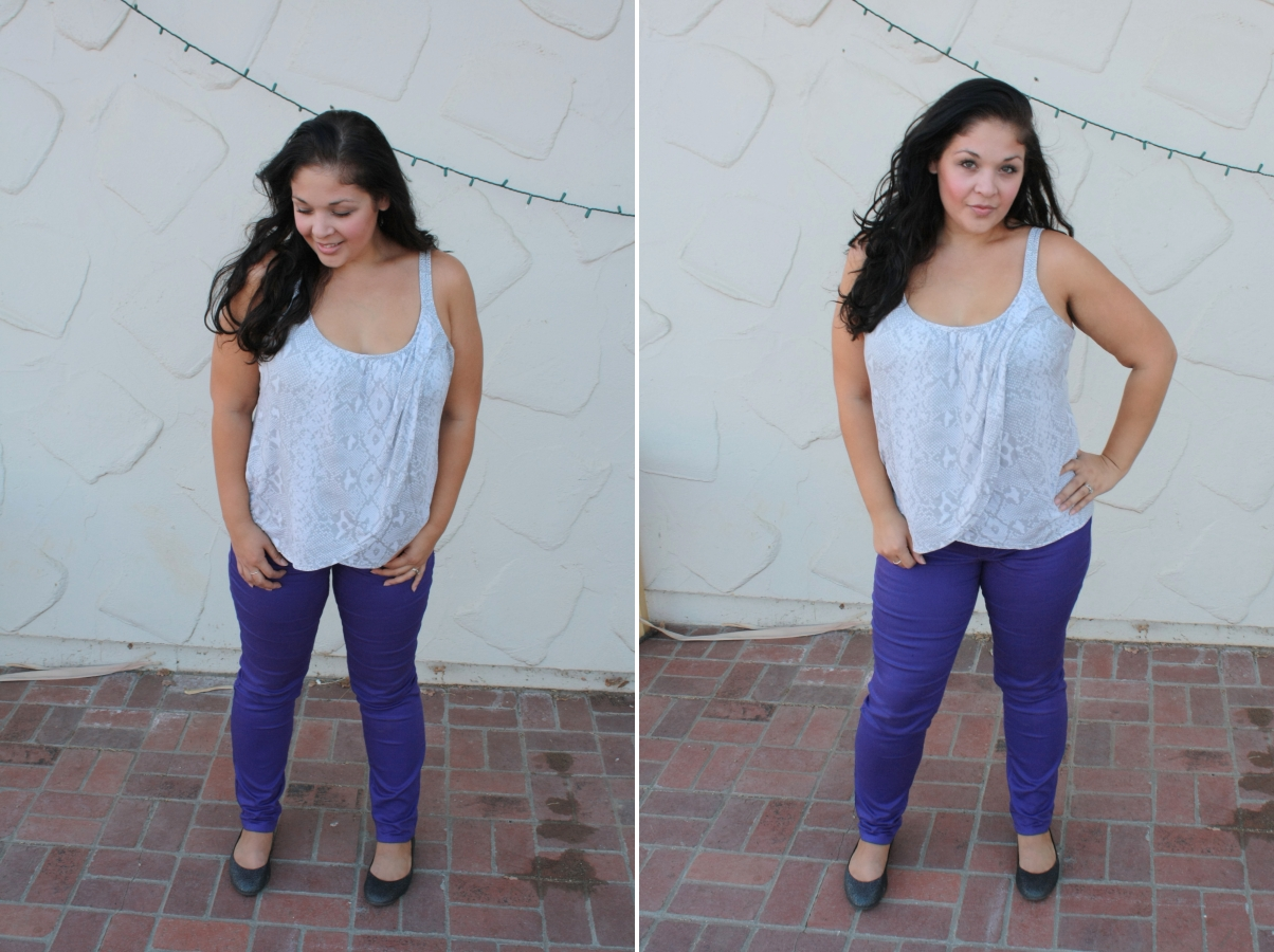 Agape Love Designs: 5 Ways To Wear Purple Skinny Jeans